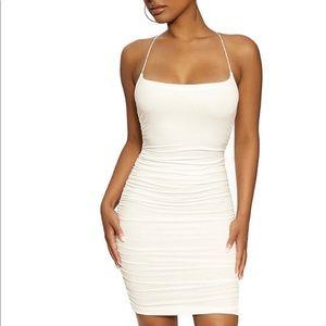 Naked Wardrobe Your X Not Mine white Dress